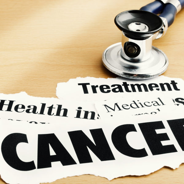 Illustration of cancer treatment's concept